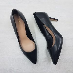 BCBGeneration Marci Black Faux Leather Heel
